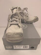 PALLADIUM Men's PALLABROUSE High Top Lace Up Canvas Sneaker Gray  US 8