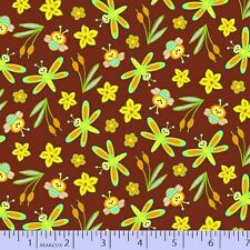 1 x Half Metre Length Polka Dot Pond Fabric - Frogs bees and more - 9659-0113