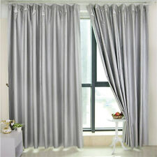 140*200cm Window Blackout Curtains Silvergray Entire Shade  Cloth Sun Insulation