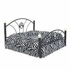 Pet Bed Small Dog Bed Metal Frame Puppy Dog Cat Kitten Crate Cushion Kennel Bed