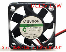 "SUNON Cooling Fan KDE1204PFV2 12v 1.0w 4010 4CM 40x40x10mm 1.6""x1.6""x0.4"""
