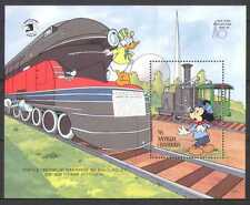 Antigua 1989 Disney/Mickey/Trains/Steam/Rail/Railways/Animation 1v m/s (n26680)
