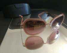 New Barton Perreira Leilani Round Mirrored Sunglasses, Rose $525 retail