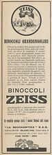 Z3284 Binoccoli Grandangolori ZEISS - Pubblicità d'epoca - 1930 Old advertising