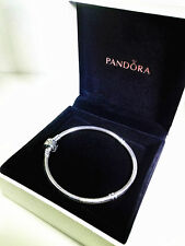 New Authentic Pandora 590702HV Silver Barrel Clasp Bracelet with CASE 18 7.1''
