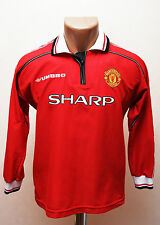 MANCHESTER UNITED ENGLAND 1998/1999 HOME FOOTBALL SHIRT JERSEY UMBRO LONG SLEEVE