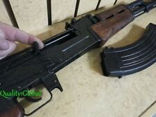 SALE NEWEST REAL WOOD HEAVY METAL BLACK  REPLICA AK-47 FULL STOCK MOVIE PROP GUN