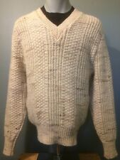 Vintage Pendleton Wool USA Sweater Mens Medium Knit Pullover V Neck Not Lebowski