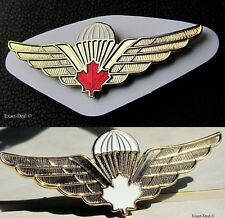 CANADA Canadian Airborne Parachutist PARA Jump Lot Of 2  Red & White Leaf  WINGS