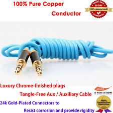 Premium Zinc Aux Cable Stereo Audio Extension 3.5mm Input Cord Male to Male 2m