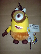 MINIONS MOVIE - DELUXE PLUSH BUDDIES - 16CM CRO WITH PVC GLASSES SOFT TOY NEW