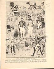 Bal Masqué Gavarni Moulin-Rouge Paris Willette FRANCE GRAVURE ANTIQUE PRINT 1902