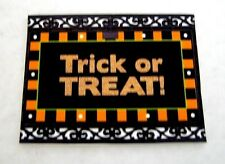 Dollhouse Miniature Halloween Welcome Mat or Rug - Trick or Treat