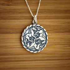 925 Sterling Silver Irish Celtic Epona Horse Charm Pendant + FREE Cable Chain