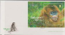 GB - GUERNSEY 2004 Endangered Species - Snub Nose Monkey £2 Sheet SG MS1026 FDC
