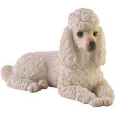 ♛ SANDICAST Dog Figurine Sculpture Poodle White