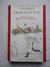 Secret Ingredients The New Yorker Book of Food and Drink (2007 Hardcover) SIGNED