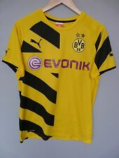 Borussia dortmund puma 2014 home football shirt trikot jersey sz small