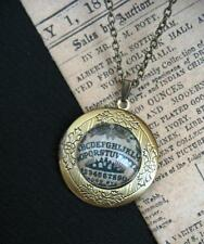 Ouija Board LOCKET Necklace Pendant Antique Bronze Steampunk Wicca Gothic Occult