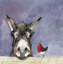 Alex Clark 5 Pack Donkey Charity Christmas Cards Hilda  + FREE GREETING CARD