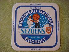 Beer Brewery Coaster <> Browerij MARTENS Sezoens Belgian Bier ~ Bocholt, BELGIUM