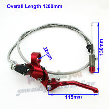 Dirt Bike Red Hydraulic Clutch Lever Master Cylinder Motor Monkey Bike Motocross