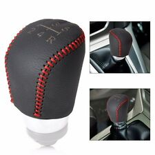 DIY 5 Speed MT Genuine Leather Gear Shift Knob Cover for Ford Focus 04-2015 2012