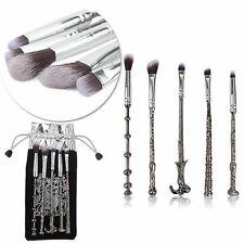 5PCS Metal Harry Potter Magic Wand makeup brushes Wizards cosmetic Make Up Brush