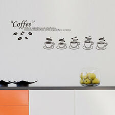 Coffee Wall Sticker Home Decor Wall Art Removable Decoration Mural Decal Vinyl