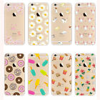 Ultra Thin Crystal Clear Pattern Soft TPU Case Cover For iPhone SE 5 6 6s Plus