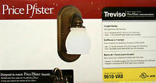 PRICE PFISTER 1-Light Vanity Light / Wall Sconce TREVISO Velvet Aged Bronze NEW