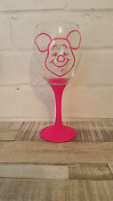 Piglet winnie the pooh wine glass any colour glitter personalise birthday