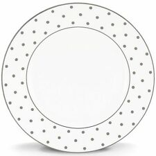 kate spade new york Larabee Road Platinum Dot Dinner Plates ~ New Tags Set of 4
