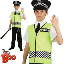 Policeman Age 3-4 Boys Fancy Dress Police Man Uniform Childs Kids Costume New