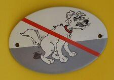 """Emaille Schild """"Kackhund"""" Kein Hundeklo Hundekot Warnschild Hunde 15x10cm Blech"""