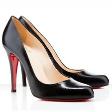 Christian Louboutin DECOLLETE 868 100 JAZZ vitello in vernice nera tacchi UK 8 EU 41
