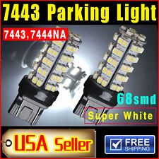2 Pieces Xenon White T20 7443 68-SMD  Car Parking LED Light Bulbs Lamps 7444NA