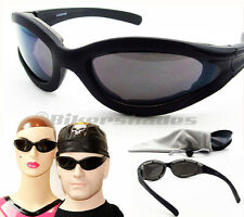 POLARIZED Lens Motorcycle Sun glasses Goggles Wind Resistant Men Women Small