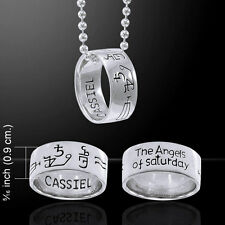 Sigil of the Archangel Cassiel .925 Sterling Silver Ring Set by Peter Stone