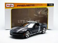 Maisto 1/18 Chevrolet Corvette Stingray-policía 2014 36212BK