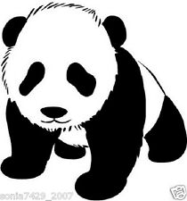 PANDA BEAR VINLY CAR WALL WINDOW DECAL