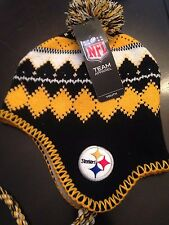 Pittsburgh Steelers NEW Youth Jacquard Tassel Knit Winter Hat . NFL Football NWT