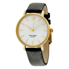 Kate Spade Mother of Black Leather Ladies Watch 1YRU0010