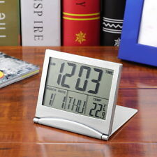 New Desk Digital LCD Thermometer Calendar Alarm Clock flexible cover CC