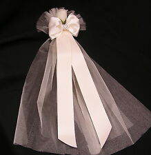 10 Pew End Bows Wedding Church Venue Decorations Personalised or plain 'GRACE'