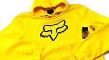 NWT! FOX RACING MENS YELLOW FOXHEAD LEGACY PULLOVER FLEECE HOODIE SWEATSHIRT LG