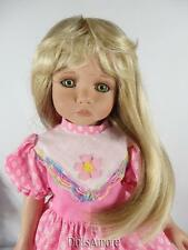 "LONG BLONDE DOLL WIG SIZE 8/9"" FITS VINTAGE AND MODERN DOLLS"