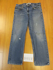 levi 505 feathered destroyed grunge jean tag 36x30 Meas 34x29 zip18997F