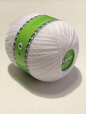 Filati maglia uncinetto gomitoli  100Gr 100% Cotone bianco 3 finezze