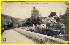 cpa Bourgogne 21 - GISSEY sur OUCHE (Côte d' Or) Le VILLAGE vu du PONT